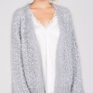 LAST ONE Luxurious pearl embroidered cardigan